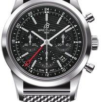Breitling Transocean Chronograph GMT nouveau 2020 Remontage automatique Chronographe Montre avec coffret d'origine et papiers d'origine AB045112/BC67-435X