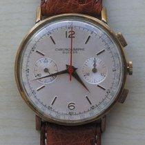 Chronographe Suisse Cie Gold/Stahl 37mm Handaufzug gebraucht Deutschland, bei der Bank im Safe