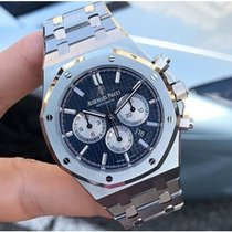 Audemars Piguet Royal Oak Chronograph Сталь 41mm Синий Без цифр