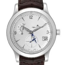 Jaeger-LeCoultre Master Hometime pre-owned 40mm Silver Date GMT Leather