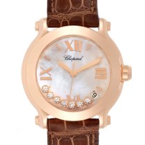 Chopard Rose gold Quartz Mother of pearl Roman numerals 36mm pre-owned Happy Sport