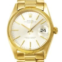 Rolex Oyster Perpetual Date Yellow gold 34mm Silver No numerals United Kingdom, London