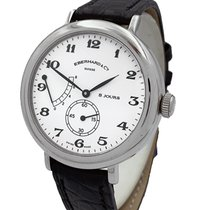Eberhard & Co. 8 Jours Steel 39mm White Arabic numerals