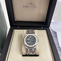 Audemars Piguet Royal Oak Dual Time Steel 39mm Black No numerals United States of America, Illinois, Oak Park