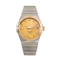 Omega Constellation Men pre-owned 38mm Champagne Gold/Steel