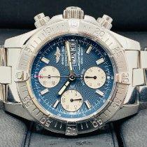 Breitling Superocean Chronograph II Сталь 42mm Синий Без цифр