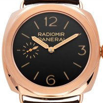 Panerai Rose gold Manual winding Brown new Special Editions