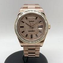 Rolex Day-Date II Oro rosa 41mm Blanco Sin cifras