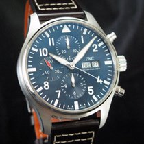 IWC Pilot Chronograph Steel 43mm Blue Arabic numerals