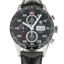 TAG Heuer Carrera Calibre 16 Steel 43mm Black Arabic numerals United States of America, Maryland, Baltimore, MD