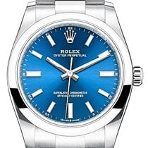 Rolex Oyster Perpetual 34 Сталь 34mm Синий