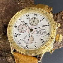Longines Lindbergh Hour Angle Yellow gold 41mm White