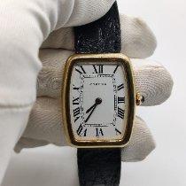 Cartier Tonneau Gelbgold 26mm Weiß