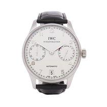 IWC Platinum Automatic White Arabic numerals 42mm pre-owned Portuguese Automatic