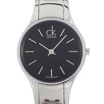 ck Calvin Klein Steel Quartz Black 28mm new