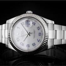 Rolex Datejust II gebraucht 41mm Silber Datum Stahl