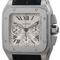 Cartier Santos 100 Steel 41mm Silver Roman numerals United States of America, Texas, Austin
