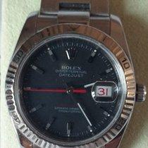 Rolex Datejust Turn-O-Graph usato 36mm Nero Data Acciaio