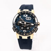 Ulysse Nardin El Toro / Black Toro pre-owned 43mm Blue Date Perpetual calendar GMT Rubber