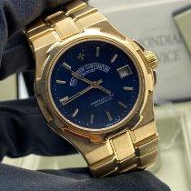 Vacheron Constantin Желтое золото Автоподзавод Синий 37mm подержанные Overseas
