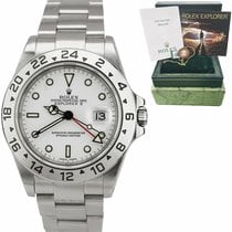 Rolex Explorer II Acero 40mm Blanco