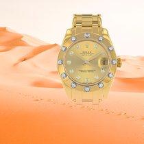 Rolex Pearlmaster Or jaune 33mm Sans chiffres