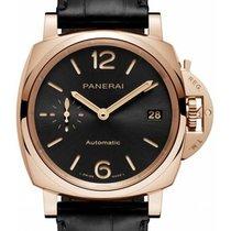 Panerai Rose gold Automatic Black 38mm new Luminor Due