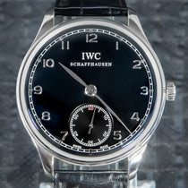 IWC Portuguese Hand-Wound Steel 44mm Black Arabic numerals