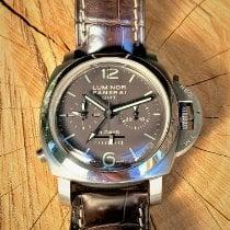 Panerai Luminor 1950 8 Days Chrono Monopulsante GMT Titanium 44mm Bruin Arabisch