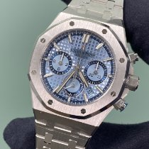 Audemars Piguet Royal Oak Chronograph Oro blanco 38mm Azul