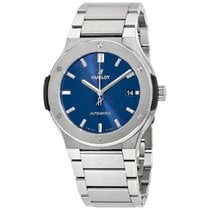 Hublot Titanium Automatic Blue No numerals 45mm new Classic Fusion Blue