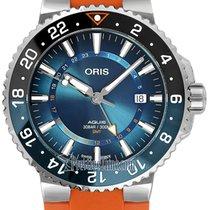 Oris Steel Automatic Blue 43.5mm new Aquis GMT Date