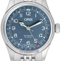 Oris Big Crown Pointer Date Acier 40mm Bleu