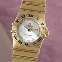 Omega Constellation Ladies Yellow gold 22.5mm Mother of pearl