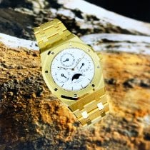 Audemars Piguet Royal Oak Perpetual Calendar Or jaune 39mm Blanc Sans chiffres France, Marseille
