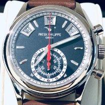 Patek Philippe Annual Calendar Chronograph Oro blanco 40.5mm Azul Sin cifras