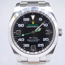 Rolex Air King pre-owned 40mm Black Steel