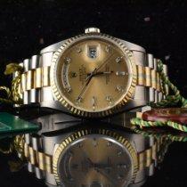 Rolex Day-Date 36 gebraucht 36mm Gold Datum Wochentagsanzeige Weißgold