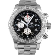 Breitling Super Avenger pre-owned 48mm Black Chronograph Date Steel