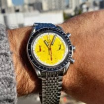 Omega Speedmaster Reduced Acier 39mm Jaune Sans chiffres France, Paris