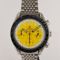 Omega Speedmaster Reduced pre-owned 39mm Yellow Chronograph Steel