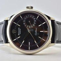 Rolex Cellini Date Oro blanco 39mm Negro Sin cifras