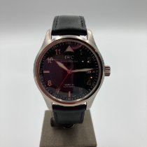 IWC Pilot Mark pre-owned 38mm Black Date Leather