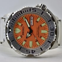 Seiko Monster Steel 43mm Orange No numerals