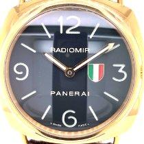 Panerai Or jaune Remontage manuel Noir Arabes 45mm occasion Radiomir 8 Days