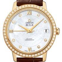 Omega nové Automatika Centrální sekundová ručka Osazení drahokamy a diamanty Chronometr 32.7mm Žluté zlato Safírové sklo