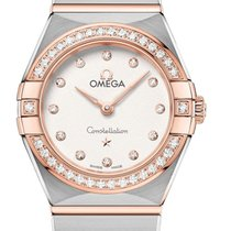 Omega Constellation Quartz Золото/Cталь 25mm Cеребро