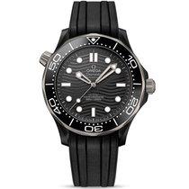 Omega Ceramic Automatic Black No numerals 43.5mm new Seamaster Diver 300 M
