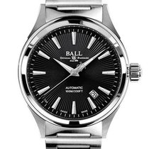 Ball Fireman Victory Steel 40mm Black No numerals United States of America, New Jersey, River Edge