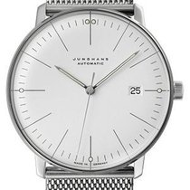 Junghans max bill Automatic Steel 38mm Silver No numerals United States of America, New Jersey, River Edge
